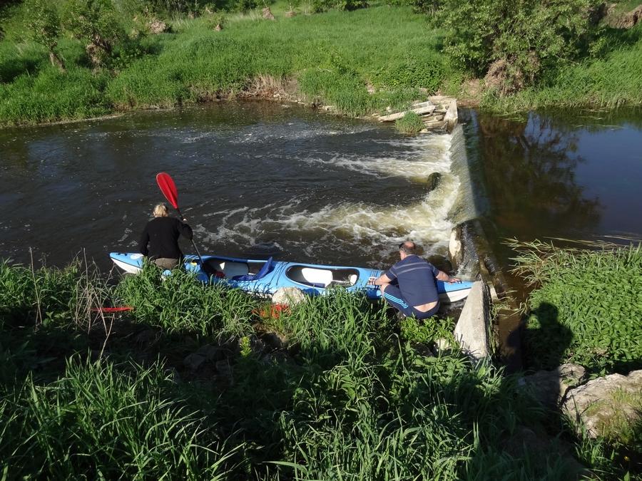 Rzeka Sona - początek spływu