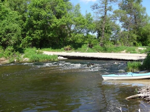 Most na Sonie w miejscowości Grabie