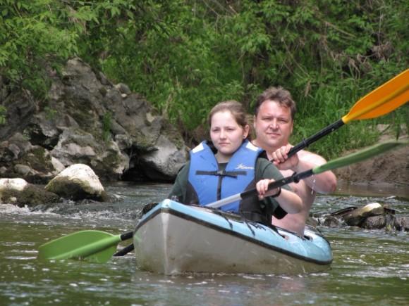 Spływ kajakowy rzeką Soną