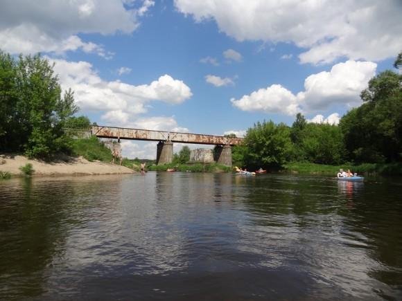 Most kolejowy w okolicy Koloni Cieksyn